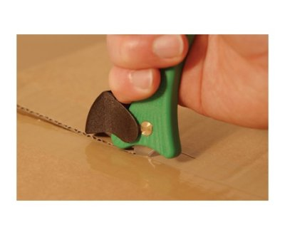 Safety skalper zeleni seče karton