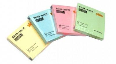 STICKY NOTES 75X75 100L PASTEL